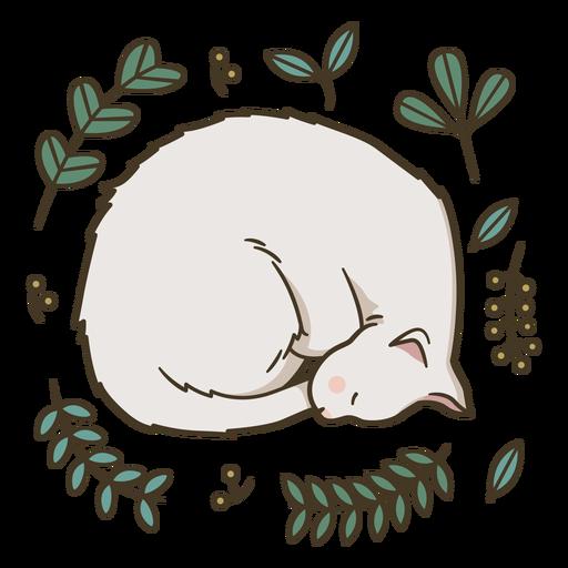 Download Cute sleeping kitten illustration - Transparent PNG & SVG ...