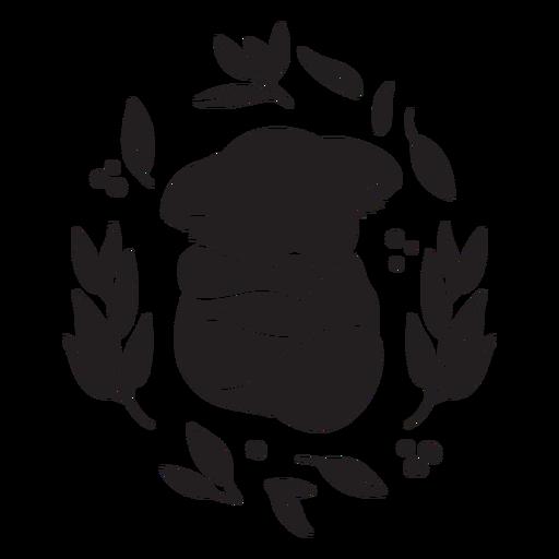 Lindo durmiendo koala negro