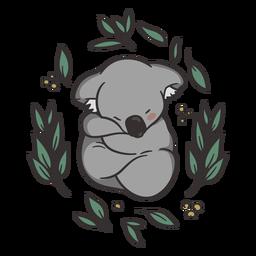 Ilustração de coala adormecida fofa