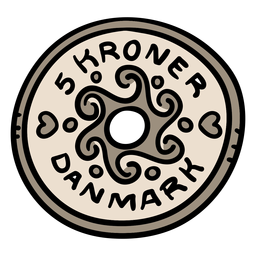 Danish coin illustration
