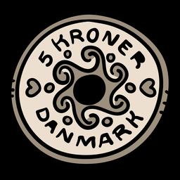 Ilustración de moneda danesa