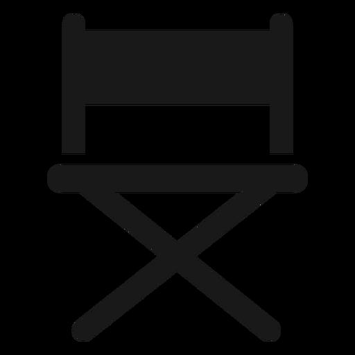 Directors chair black Transparent PNG