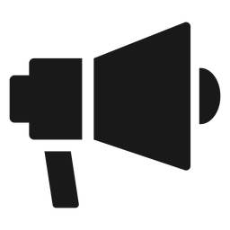 Directores megáfono negro