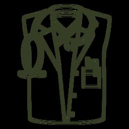Trazo uniforme médico