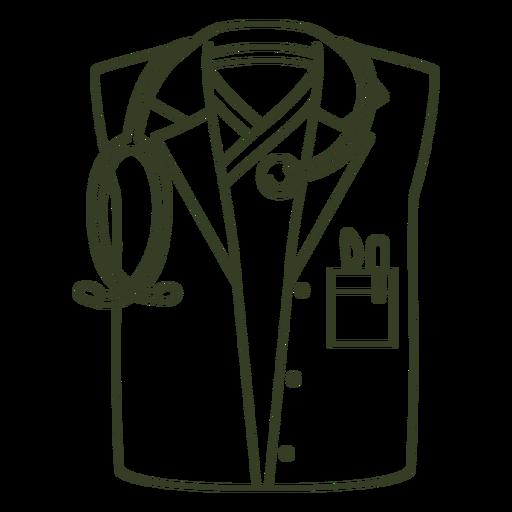 Doctor uniform stroke Transparent PNG