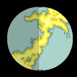 Tierra arcaica eón plana