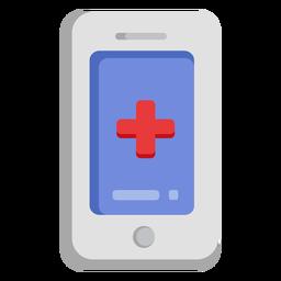 Ícone de celular de emergência