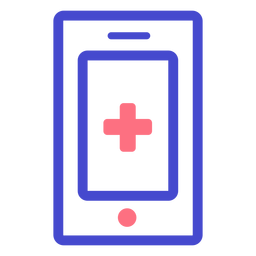 Ícone de toque de celular de emergência