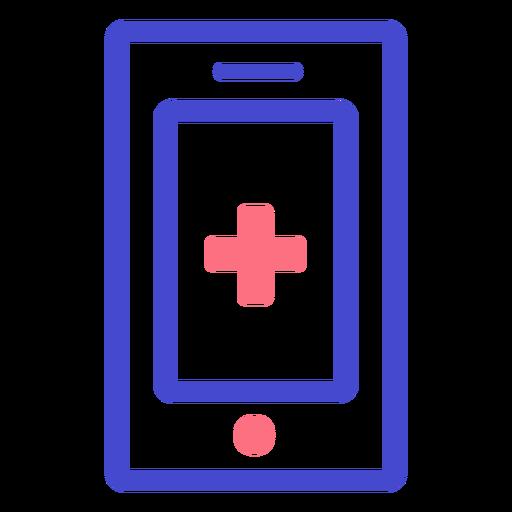 Emergency cellphone stroke icon