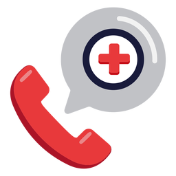 Emergency phone call icon