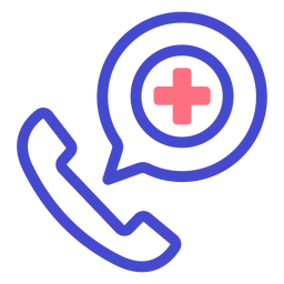 Icono de trazo de llamada telefónica de emergencia