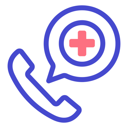 Emergency phone call stroke icon Transparent PNG
