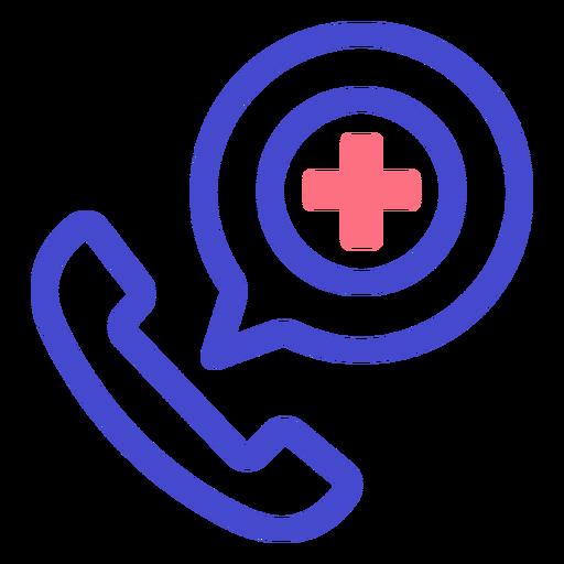 Icono de trazo de llamada de teléfono de emergencia