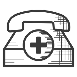 Emergency telephone black and white icon