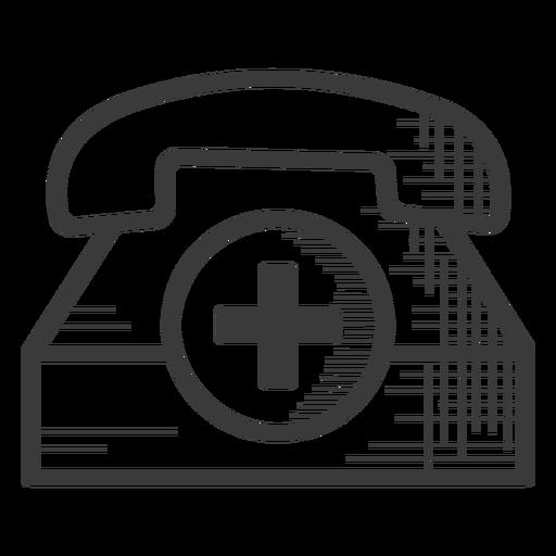 Emergency telephone black and white icon