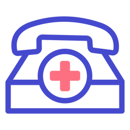 Emergency telephone stroke icon
