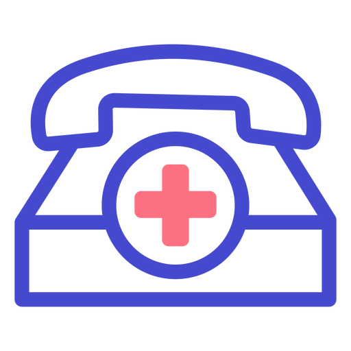 Emergency telephone stroke icon