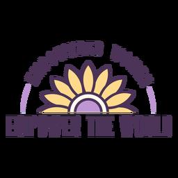 Las mujeres empoderadas empoderan la insignia mundial