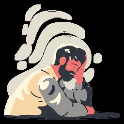 Carácter de hombre agotado