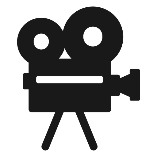 Cámara de cine negro Transparent PNG
