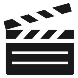 Film clapperboard black