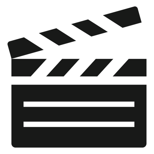 Claquete de cinema preto