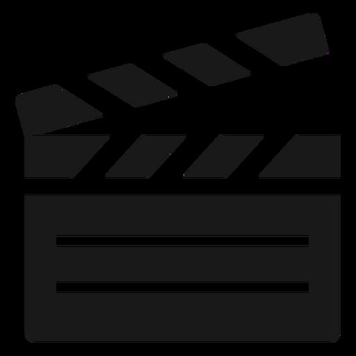 Film clapperboard black