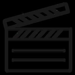 Trazo de claqueta de cine