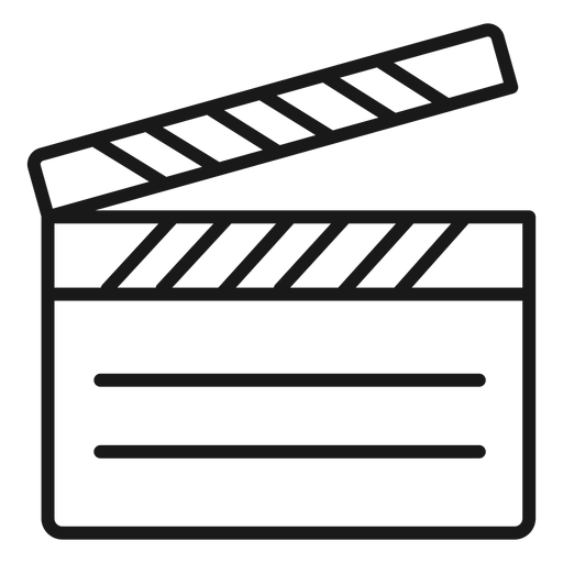 Trazo de claqueta de cine Transparent PNG