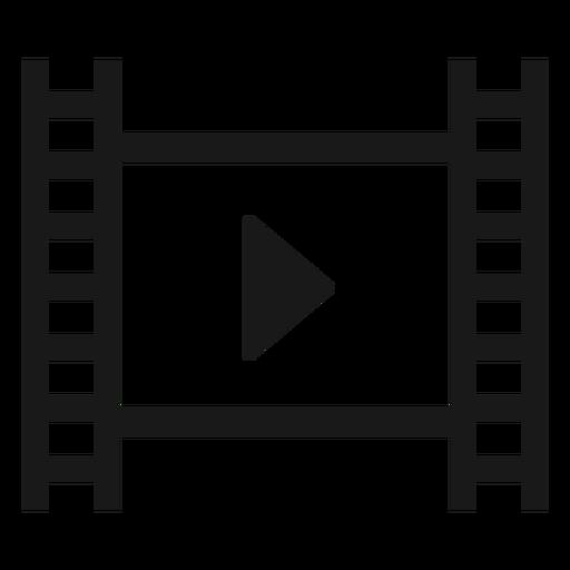 Filmstrip play black