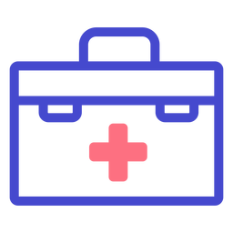 First aid kit stroke icon