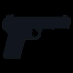 Silhueta de cinco pistola sete