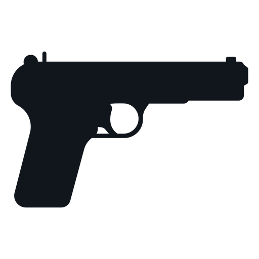 Cinco siete silueta de pistola Transparent PNG