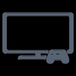 Icono de controlador de televisión plana
