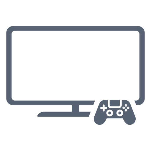 Flat television controller icon
