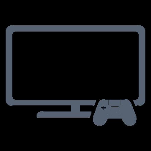 Ícone do controlador de televisão plana