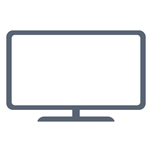 Flat television icon