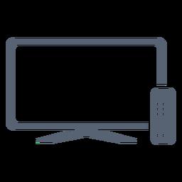 Ícone de controle remoto de televisão plana