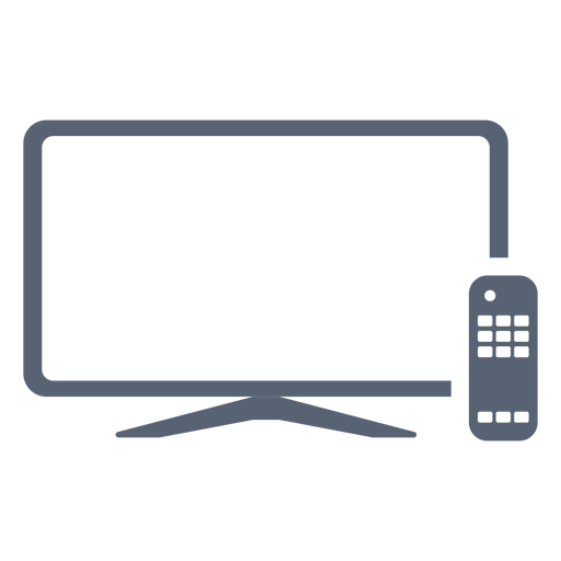 Flat television remote control icon Transparent PNG