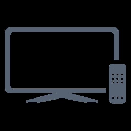 Flat television remote control icon