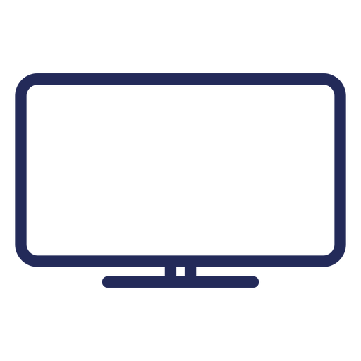 Flat television stroke icon