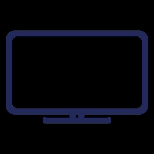 Icono de trazo de televisión plana