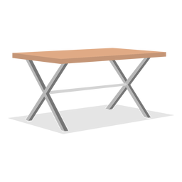 Folding table illustration