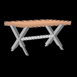 Ilustração de mesa dobrável