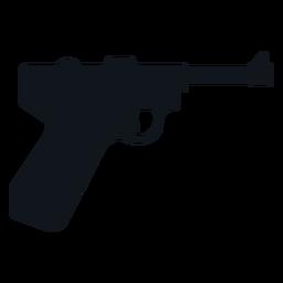 German pistol silhouette