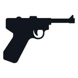 Silueta de pistola alemana
