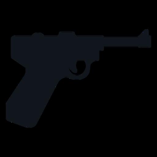 Silueta de pistola alemana Transparent PNG