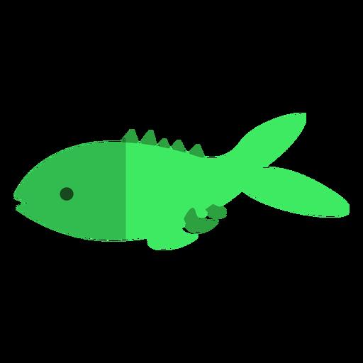 Pez verde plano