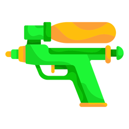 Green water gun flat