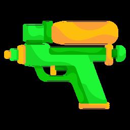 Pistola de agua verde plana